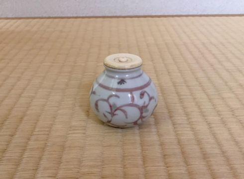潮桂子 釉裏紅茶入